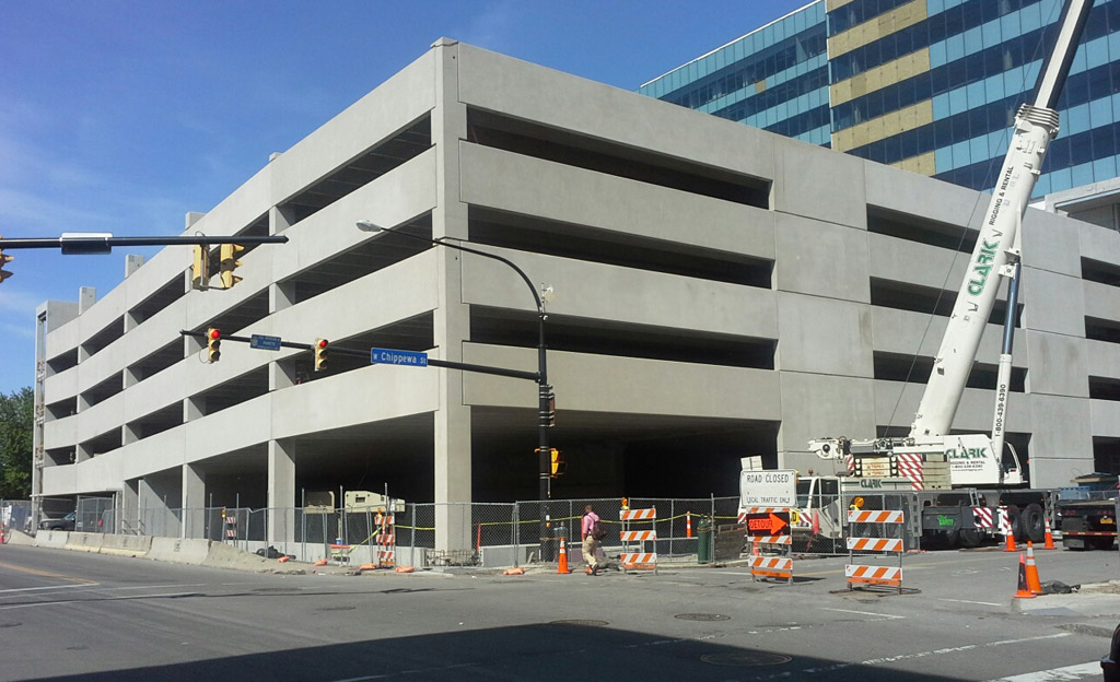 Greektown casino parking garage